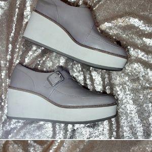 Zara gray Oxfords size 8.5 nerrow